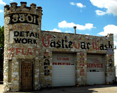 The Castle Car Wash started life as the Murphy Filling Station. Gas was sold here from 1925 through 1970.